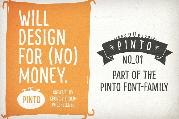 Hand-drawn Pinto NO_01 for Packaging