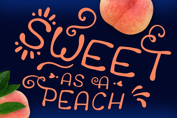 Peaches * Wedding Font