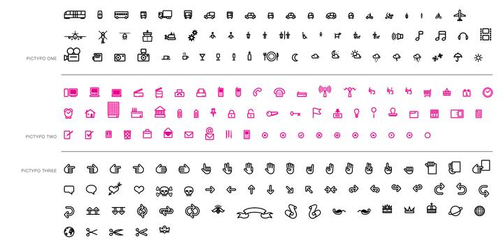 Pictypo Font family