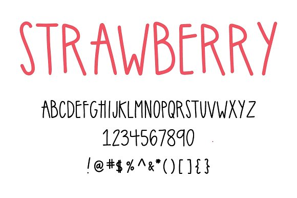 strawberry | handwritten sans serif