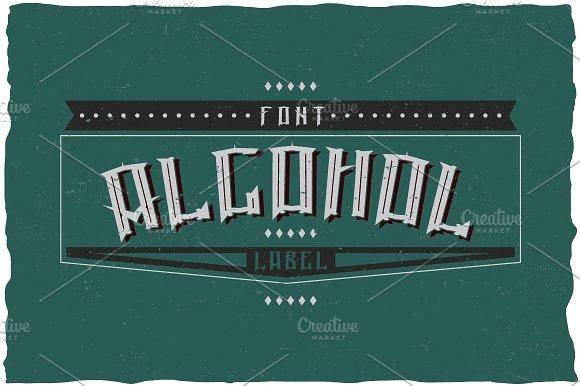 Alcohol Vintage Label Typeface