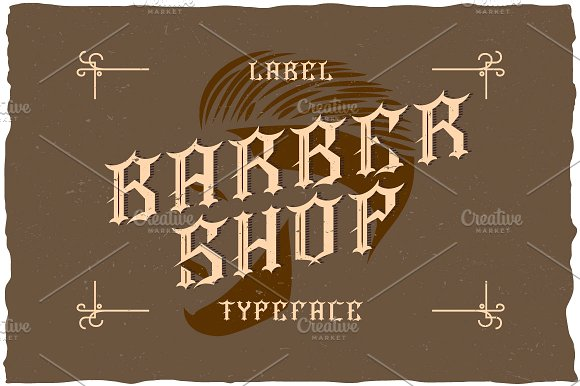 Barber Label Typeface