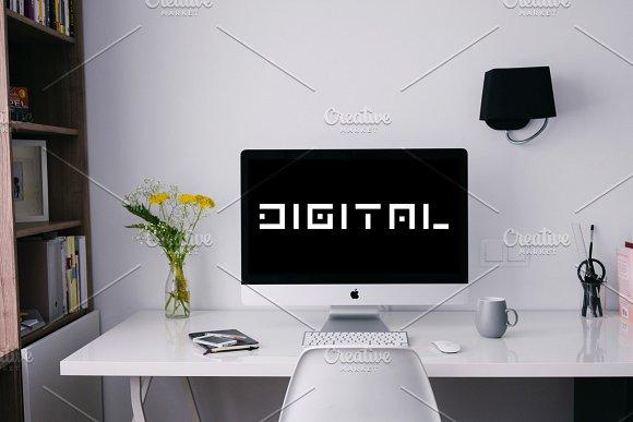 Digital font. English alphabet