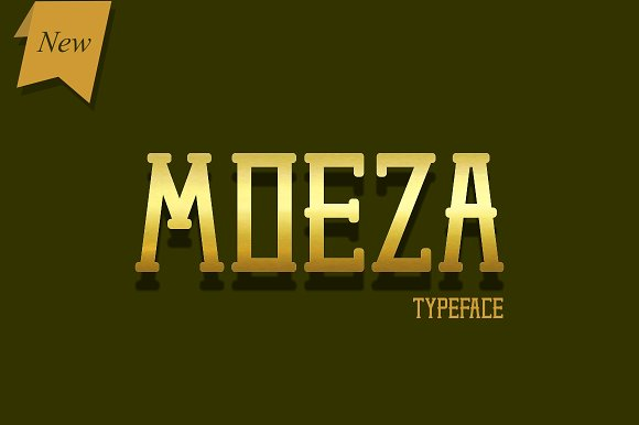 Moeza Display Font