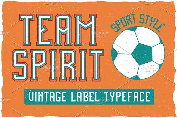 Team Spirit Label Typeface