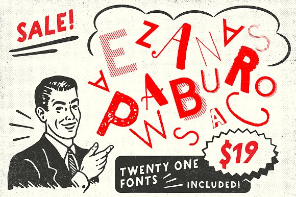 ZACK Vintage Font Bundle