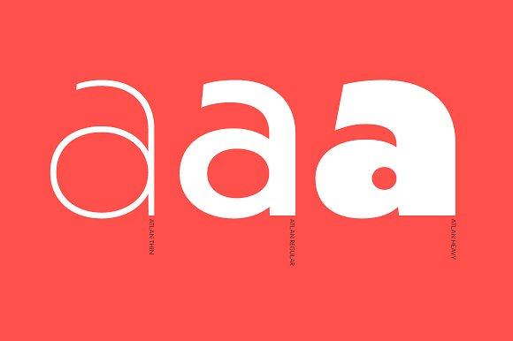 Atlan Sans Serif