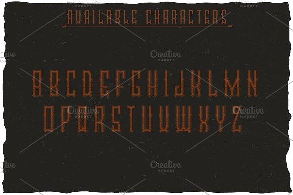 Brandy Vintage Label Typeface