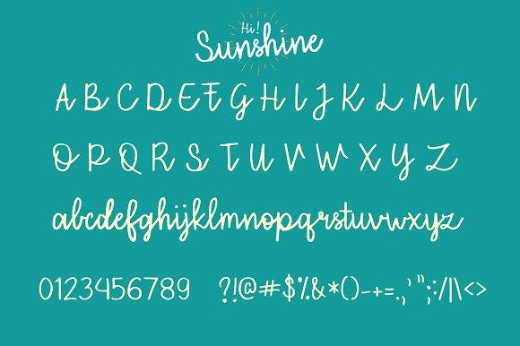 Hi Sunshine Script font