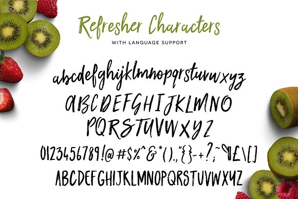 Kiwi Refresher Font Duo