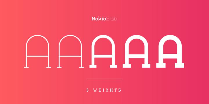 Nokio Slab Font Family