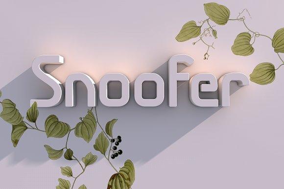 Snoofer Display Font