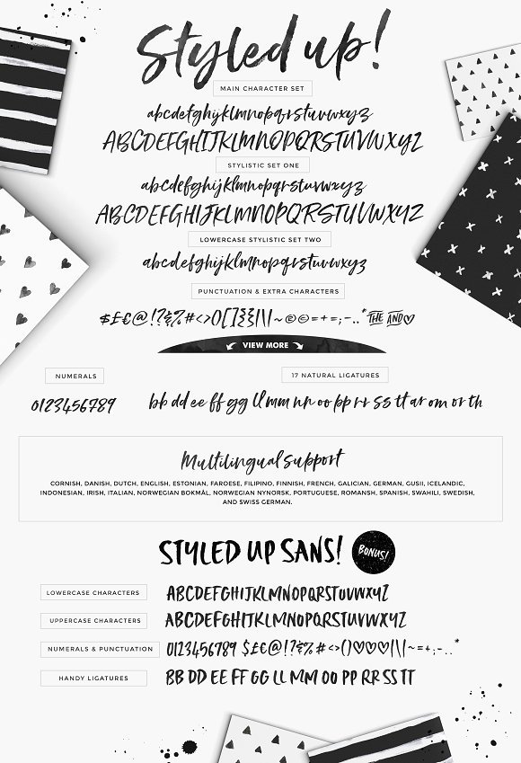 Styled up!Brush Calligraphy Font Duo