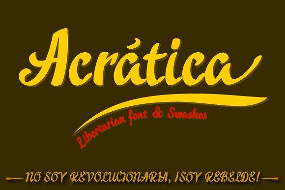 Acratica font Script Font