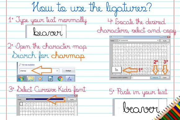 Fonts Cursive Kids and Cursive Trace