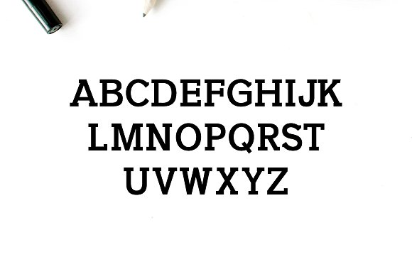 Naava A Slab Serif Typeface