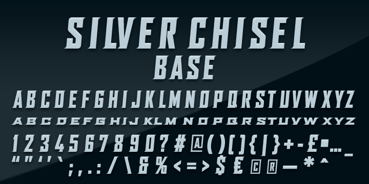 SILVER CHISEL Font Family