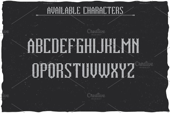 Vintage Classic Look Label Typeface