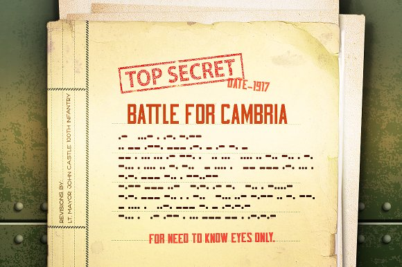 Bootcamp - Military Font + Morsecode