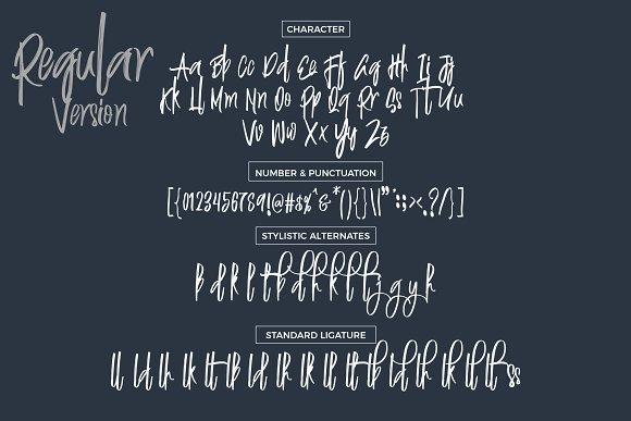 Justin Brush Font
