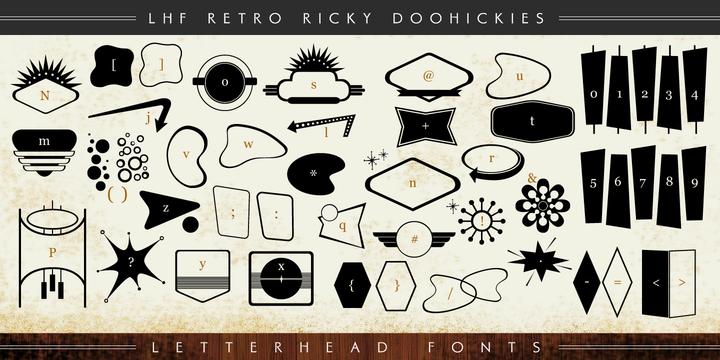 LHF Retro Ricky Doohickies Font