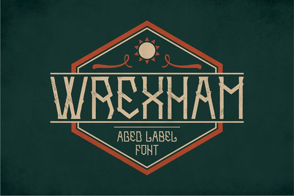 Wrexham Vintage Label Typeface