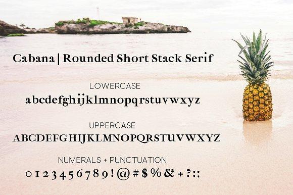 Cabana -Bold Round Short Stack Serif