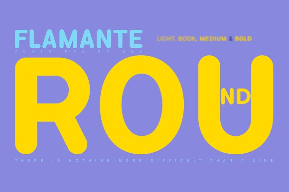 Flamante Round 8 Fonts