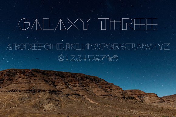 Galaxy Trio Fonts