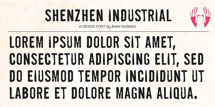 Shenzhen Industrial Font - iFonts xyz