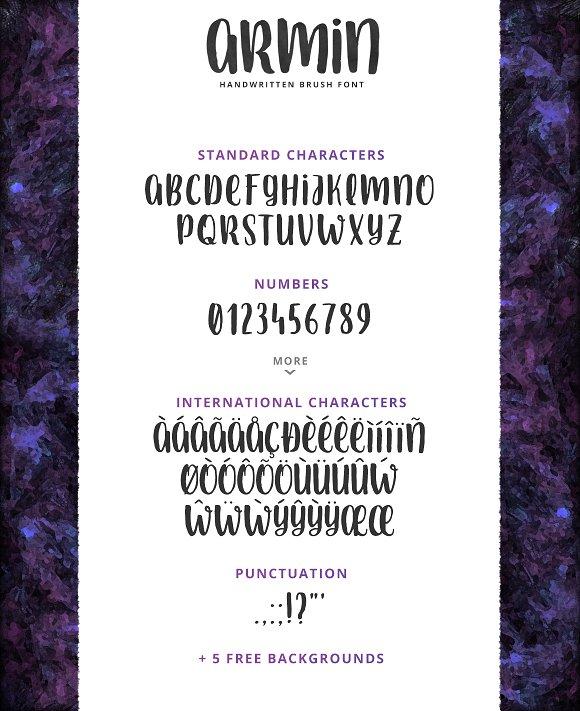 Armin - Handwritten Brush Font