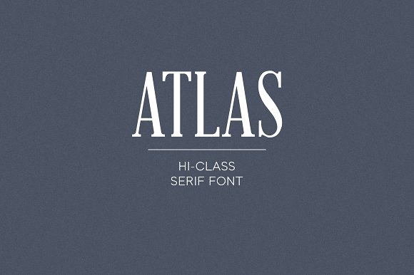 Atlas serif font ifonts atlas is a high class modern serif typeface with a vintage feel atlas will look amazing in your text design brochures corporate identity business cards colourmoves