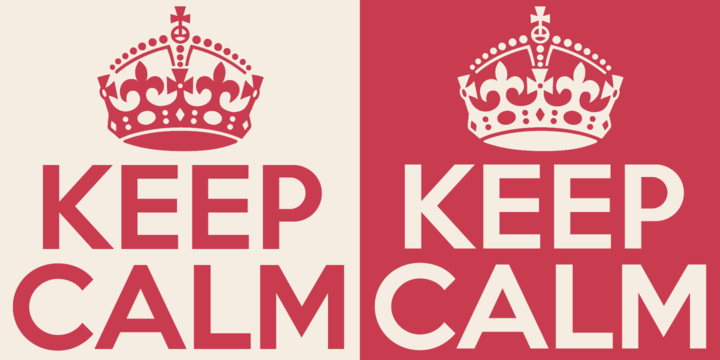 Keep calm font family incomplete for Keep calm font