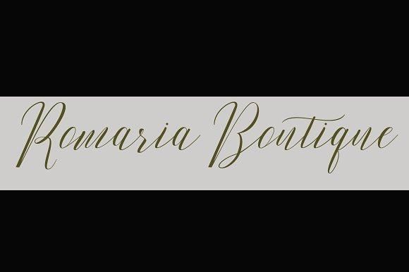 Romarya Script Font