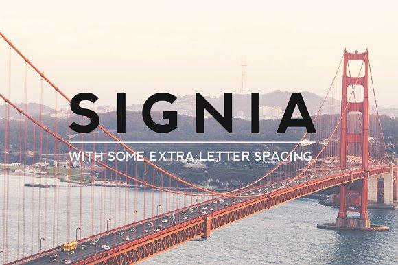 SIGNIA Pro Modern Typeface