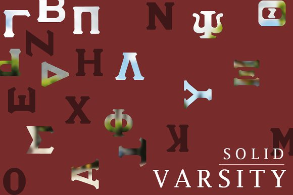 Varsity Greek Lettering - iFonts xyz