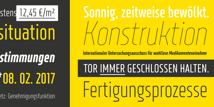 XXII Neue Norm Rounded Condensed Font Family - iFonts xyz