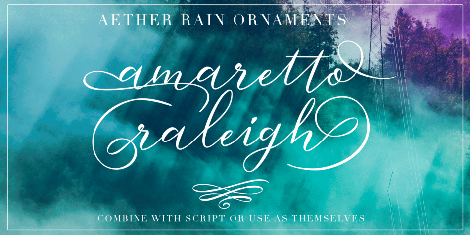 Aether Rain Font Family - 7 Fonts