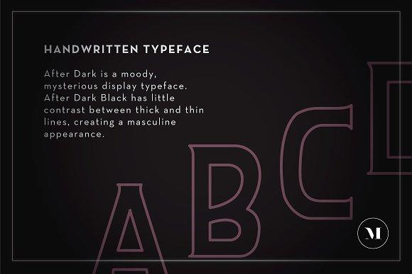 After Dark Typeface