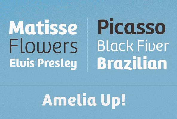 Amelia UP! Font Family