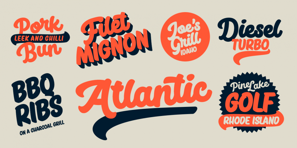 Big Fish Font Family - 4 Fonts