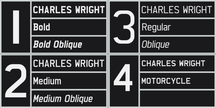 Charles Wright Font Family