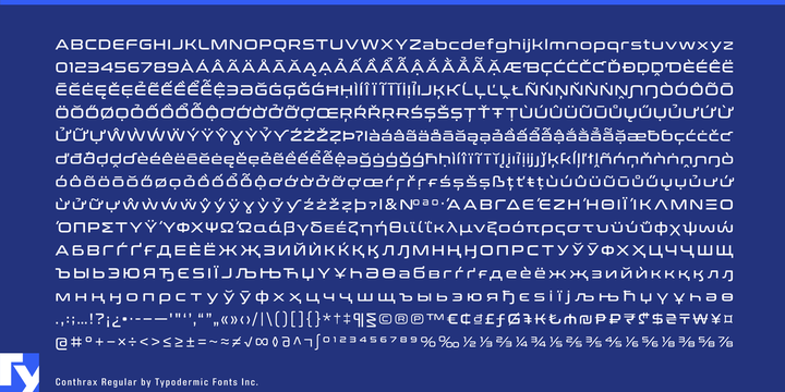 Conthrax Font Family