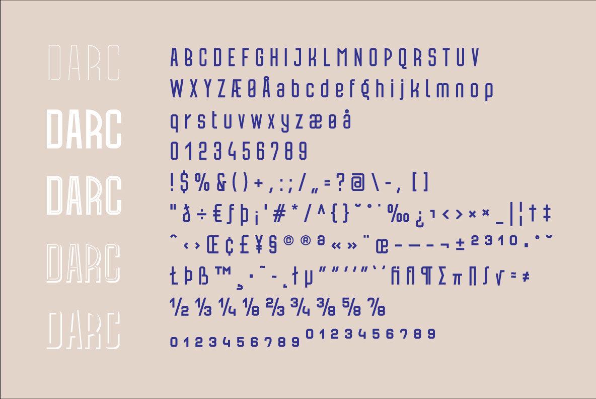 Darc Font Family