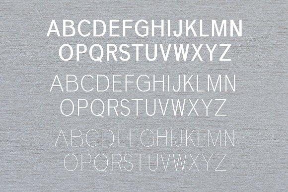 Deron Sans Serif Typeface