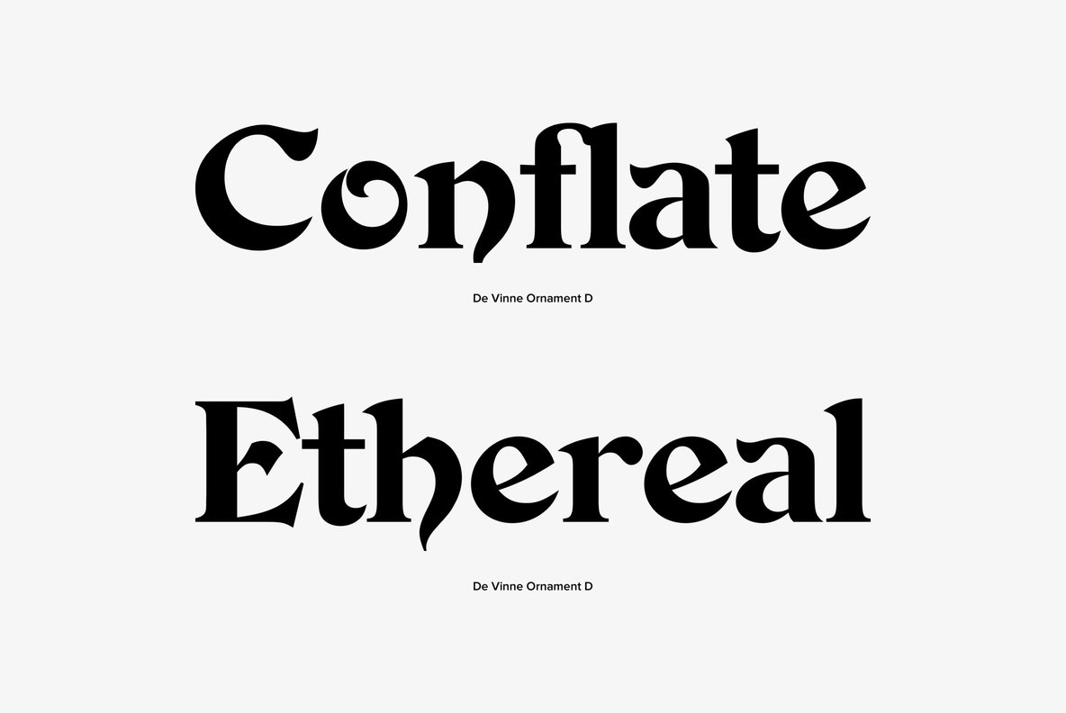 Devinne Ornament Font