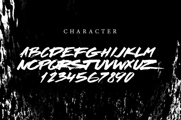 Heavy|Brush script font
