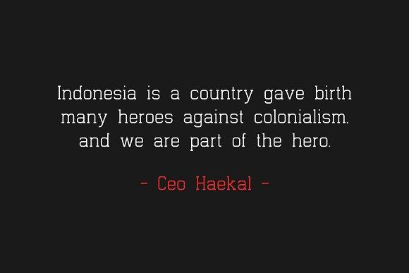 Indonesia Family   Premium Font!