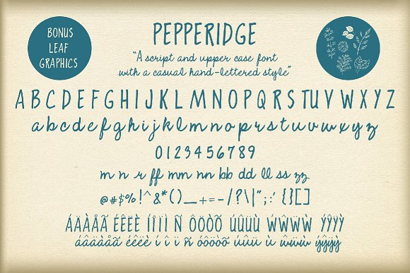 Pepperidge font