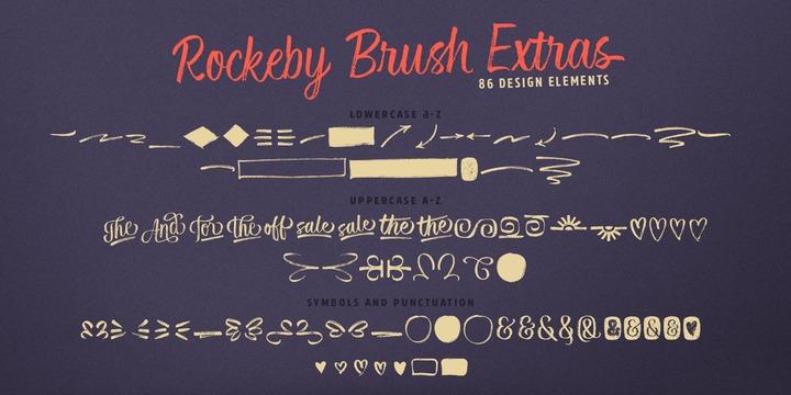 Rockeby Brush Font Family